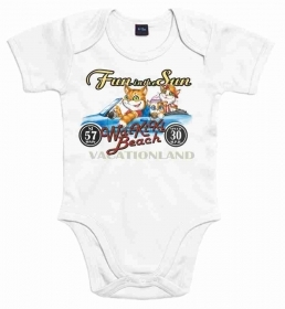 BODY BABY CON STAMPA TITOLO: FUN AND SUN