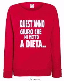 FELPA ROSSA FRUIT OF THE LOOM PER IL TUO NATALE: DIETA