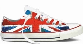 SIMIL CONVERSE BASSE STAMPA TITOLO  NEW ENGLAND FLAG