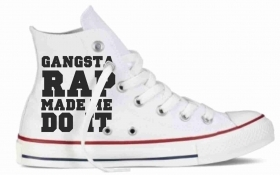 Sneakers in tela bianca GANG