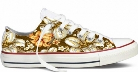SIMIL CONVERSE BASSE STAMPA TITOLO  FLOWERS NEW