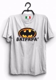 MAGLIETTA MADE IN ITALY IDEA REGALO PER LA FESTA DEL PAPA': BAT PAPA'