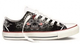 SIMIL CONVERSE BASSE STAMPA TITOLO  HORROR