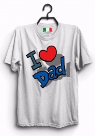 MAGLIETTA MADE IN ITALY IDEA REGALO PER LA FESTA DEL PAPA':  I LOVE DAD