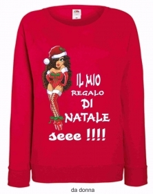 FELPA ROSSA FRUIT OF THE LOOM PER IL TUO NATALE: SEE