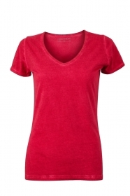 Ladies' Gipsy T-shirt T-shirt con scollo a V, 100% cotone single jersey