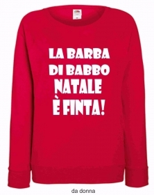 FELPA ROSSA FRUIT OF THE LOOM PER IL TUO NATALE: FINTA