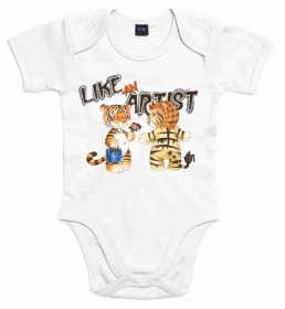 BODY BABY CON STAMPA TITOLO: LIKE AND ARTIST