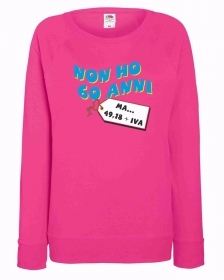 FELPA FUXSIA DONNA  FRUIT OF THE LOOM: NON HO 60 ANNI