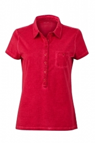 Ladies' Gipsy Polo Polo trendy dal look moderno, 100% cotone single jersey