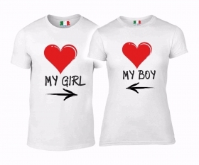 DUE MAGLIETTE YOU & ME - LOVE MY GIRL MY BOY