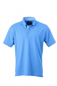 Ladies' Plain Polo 100% cotone pettinato piquet. Polo con rifinitura quadrettata