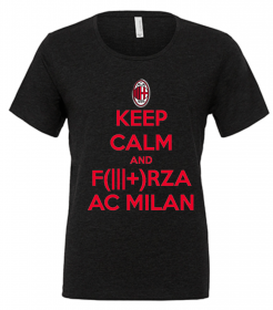 MAGLIETTA NERA SCOLLO LARGO: KEEP CALM