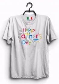 MAGLIETTA MADE IN ITALY IDEA REGALO PER LA FESTA DEL PAPA': HAPPY DAY