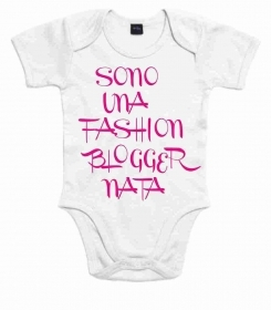 BODY BABY CON STAMPA TITOLO: FASHION BLOGGER