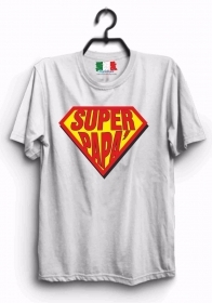 MAGLIETTA MADE IN ITALY IDEA REGALO PER LA FESTA DEL PAPA': SUPER PAPY