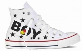 Sneakers in tela bianca 90   BOY