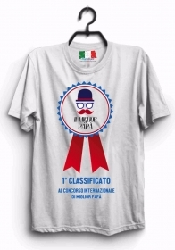 MAGLIETTA MADE IN ITALY IDEA REGALO PER LA FESTA DEL PAPA': 1 CLASSIFICTO